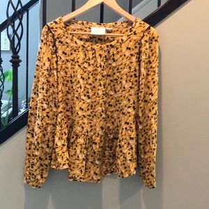 Maeve by Anthropologie large long sleeve blouse